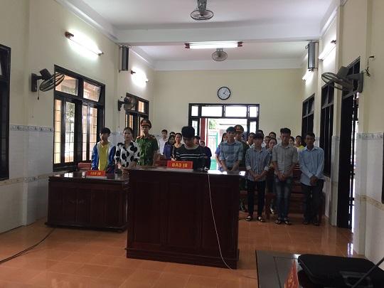 Bị cáo Lê Hữu Duy tại phiên tòa