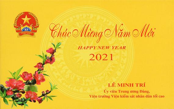 Thiệp chúc mừng năm mới 2021 của Viện trưởng VKSND tối cao